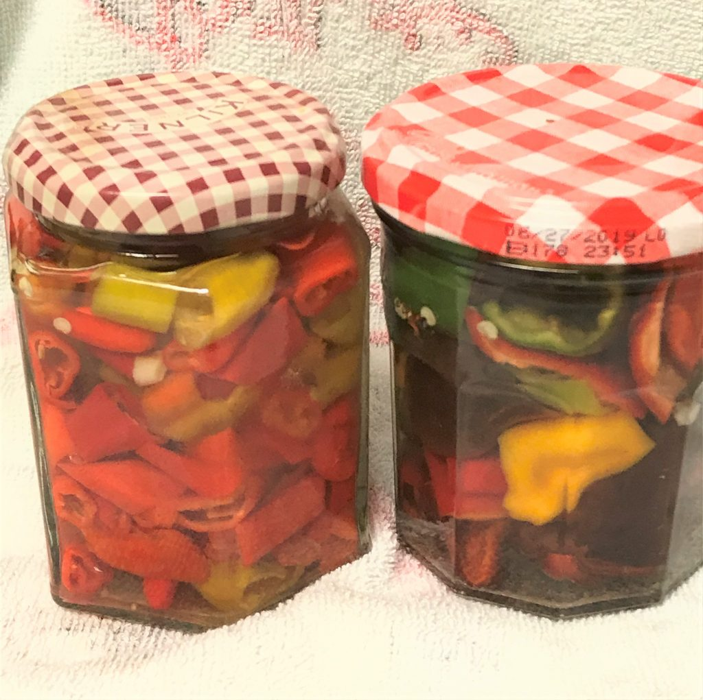 quick pickling sweet peppers