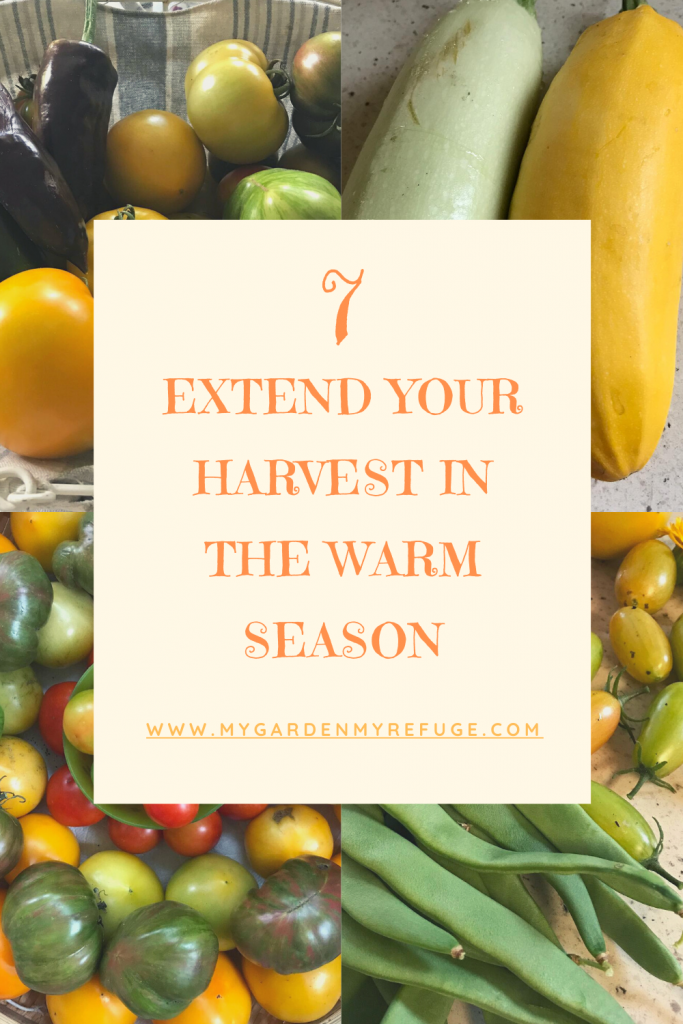 How to extend your harvest in the warm season?